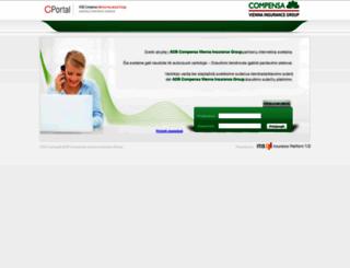 cportal.compensa.lt screenshot
