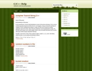 cpphelp.wordpress.com screenshot