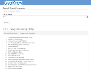 cppknowcoding.greatknow.com screenshot