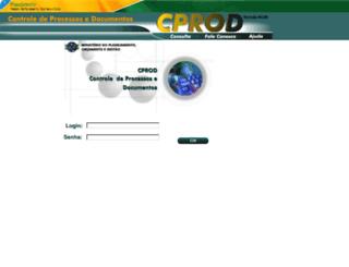 cprodweb.planejamento.gov.br screenshot