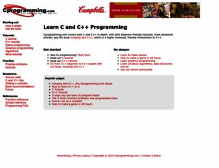 cprogramming.com screenshot