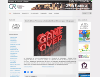 cprplasencia.juntaextremadura.net screenshot