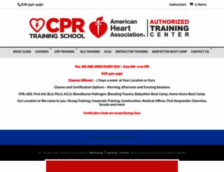 cprtrainingschool.com screenshot
