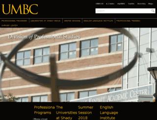 cps.umbc.edu screenshot