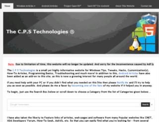 cpstechnologies.yolasite.com screenshot