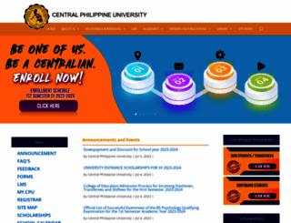 cpu.edu.ph screenshot