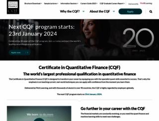 cqf.com screenshot