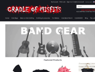 cradleofmisfits.com.au screenshot