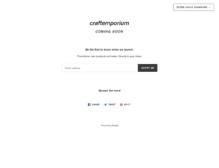 craft-emporium.co.uk screenshot