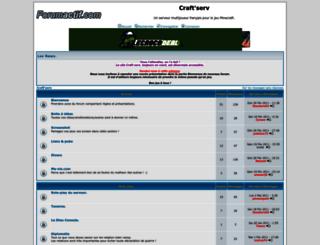 craft-serv.forumactif.fr screenshot