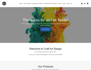craftartdesign.co.uk screenshot