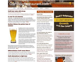 craftbeerrestaurant.com screenshot
