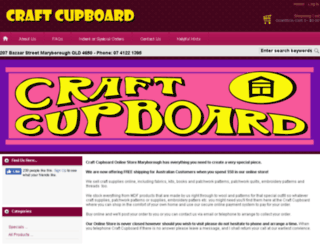 craftcupboard.com.au screenshot