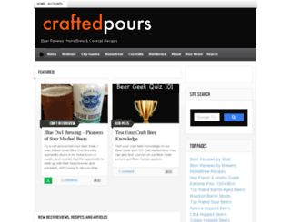 craftedpours.com screenshot