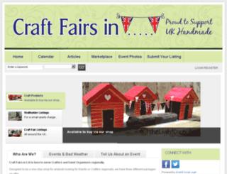craftfairsin.co.uk screenshot