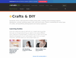 crafts.tutsplus.com screenshot