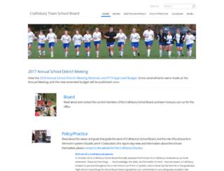 craftsburyschoolboard.ossu.org screenshot