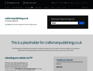 craftsmanpublishing.co.uk screenshot