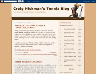 craighickmanontennis.blogspot.com screenshot