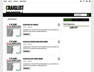 craiglistproxies.blogspot.in screenshot
