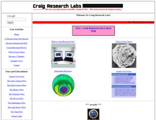 craigresearchlabs.com screenshot