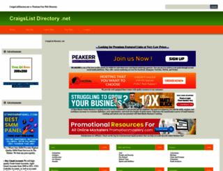 craigslistdirectory.net screenshot