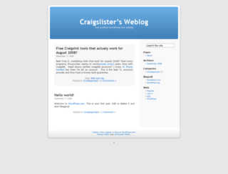 craigslister.wordpress.com screenshot