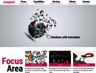 cranberryindia.com screenshot