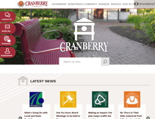 cranberrytownship.org screenshot