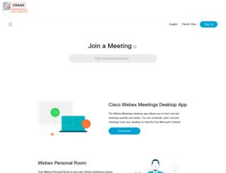 crane-eg.webex.com screenshot