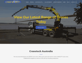 cranetech.com.au screenshot