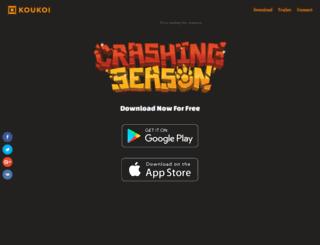 crashingseason.com screenshot