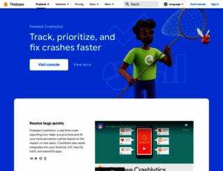 crashlytics.com screenshot