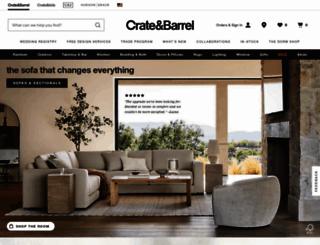 crateandbarrel.com screenshot