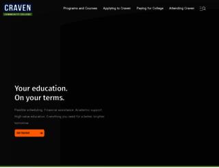 cravencc.edu screenshot