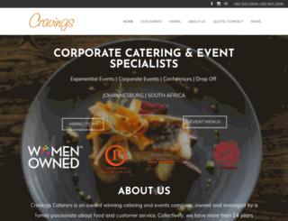 cravingscaterers.co.za screenshot