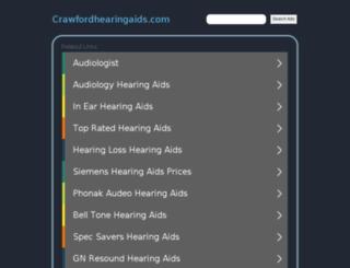 crawfordhearingaids.com screenshot