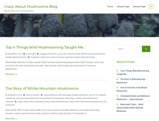 crazyaboutmushrooms.com screenshot