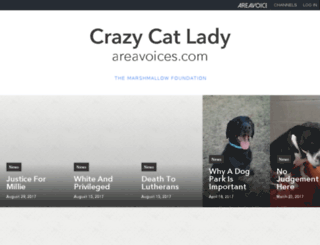 crazycatlady.areavoices.com screenshot