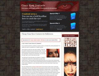 crazyeyescontacts.net screenshot