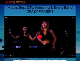 crazyfingersmaui.com screenshot