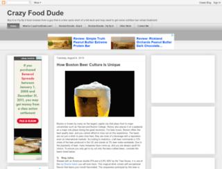 crazyfooddude.com screenshot
