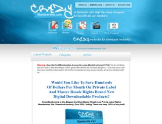 crazymembership.com screenshot