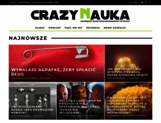 crazynauka.pl screenshot