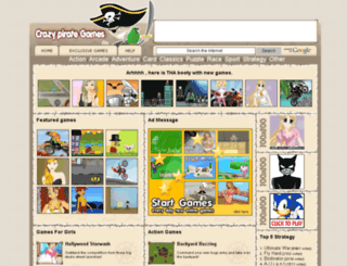 crazypirategames.com screenshot