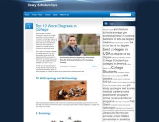 crazyscholarships.org screenshot