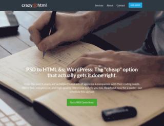 crazyxhtml.com screenshot
