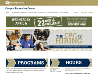 crc.gatech.edu screenshot