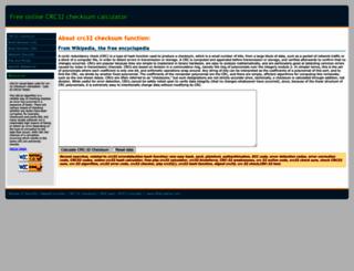 crc32-checksum.waraxe.us screenshot