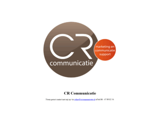 crcommunicatie.nl screenshot